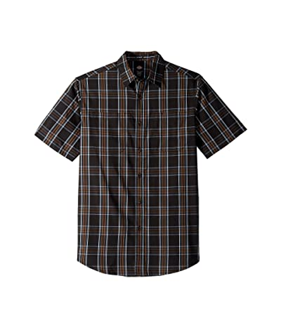Dickies Icon Short Sleeve Shirt Relaxed Fit (Rinsed Black Plaid) Men