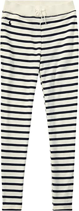 Polo Ralph Lauren Kids - Striped French Terry Leggings (Little Kids/Big Kids)