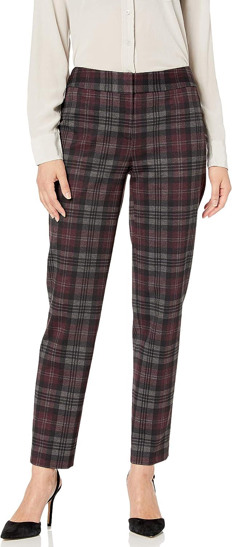 NINE WEST Women's Skinny Ponte Printed Pant