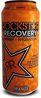 Rockstar Recovery Hydration Orange Energy Drink, 16 Ounce (16 Cans)