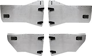 EVO Manufacturing Jeep Wrangler 2007-2018 JK Front and Rear Aluminum Half Door Sets, JKU