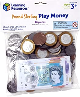 Learning Resources (UK Direct Account) LSP2629MUK UK Pound Sterling Play Money for Kids, Maths, Counting Toy Pack, Multico...