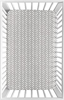 herringbone crib sheet