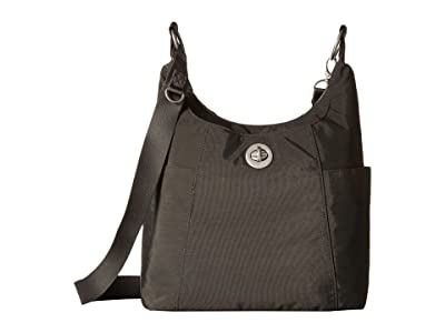 Baggallini International Triple Threat Basel Hobo (Charcoal) Hobo Handbags