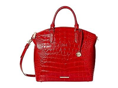 Brahmin Veil Large Duxbury Satchel (Ember) Handbags