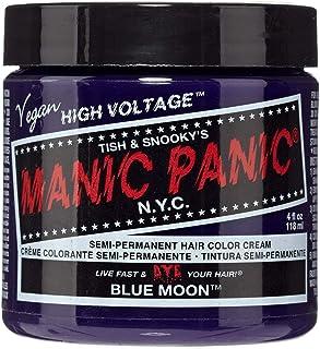 Manic Panic Semi-Permament Haircolor Blue Moon 4 Ounce Jar (118ml) (6 Pack)