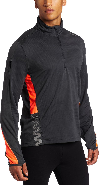 Reebok Men's ZigBlaze Albuquerque Mall Long Sleeve 1 Gravel Max 55% OFF Zip 4 Medium Shirt