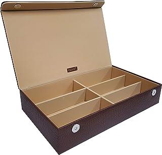Essart Premium 6 Grid Sunglass/Jewellery Collection Storage Organiser - Tan