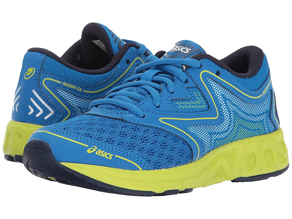 ASICS Kids Noosa GS (Little Kid/Big Kid) (Electric Blue/Green/Peacoat) Boys Shoes