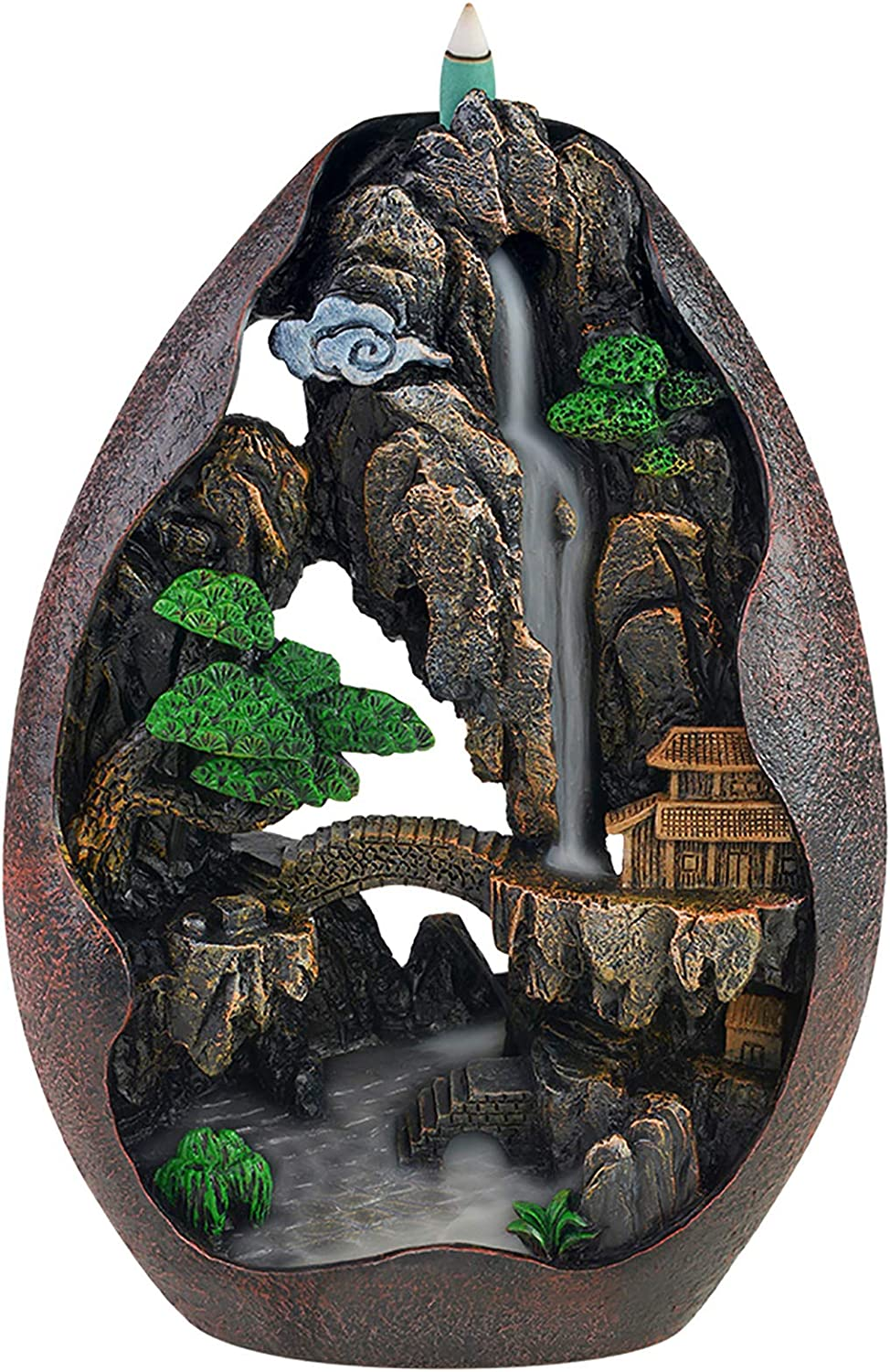 SOYO Don't miss the campaign Waterfall Incense Burner Mountain Holder Backflow trust R