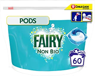 Fairy Non Bio 3in1 Pods for Sensitive Skin Washing Liquid Capsules (60 Washes)
