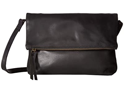 ABLE Emnet Fold-Over Crossbody (Black) Cross Body Handbags