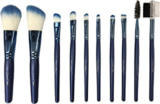 Dream Maker® 10 Piece Makeup Brush Set Model DM-130 (Blue)