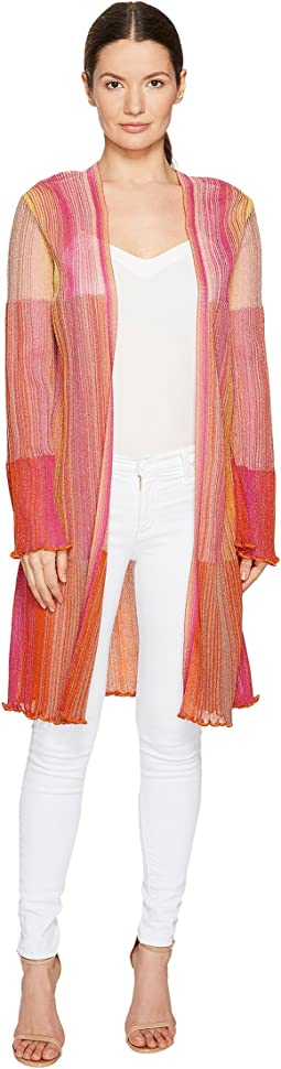 Multicolor Plisse Cardigan