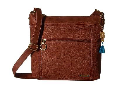 Sakroots Arcadia Finn Crossbody (Tobacco) Cross Body Handbags