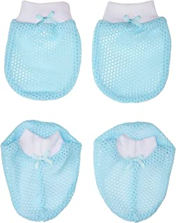 Tollyjoy Mitten and Bootee Fish Net, White/Blue, 23g