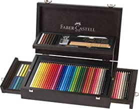 Faber-Castell Artist's Pencils Art and Graphic Collection 36 Polychromos Artist's Pencils and Pastels Set in Wooden Case, ...