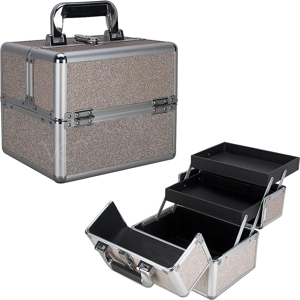 Ver Beauty DVK002-510 2-Tiers Extendable Trays Art Craft Supplies Storage Portable Box Tool Case Organizer Travel – VK002 Beige Glitter
