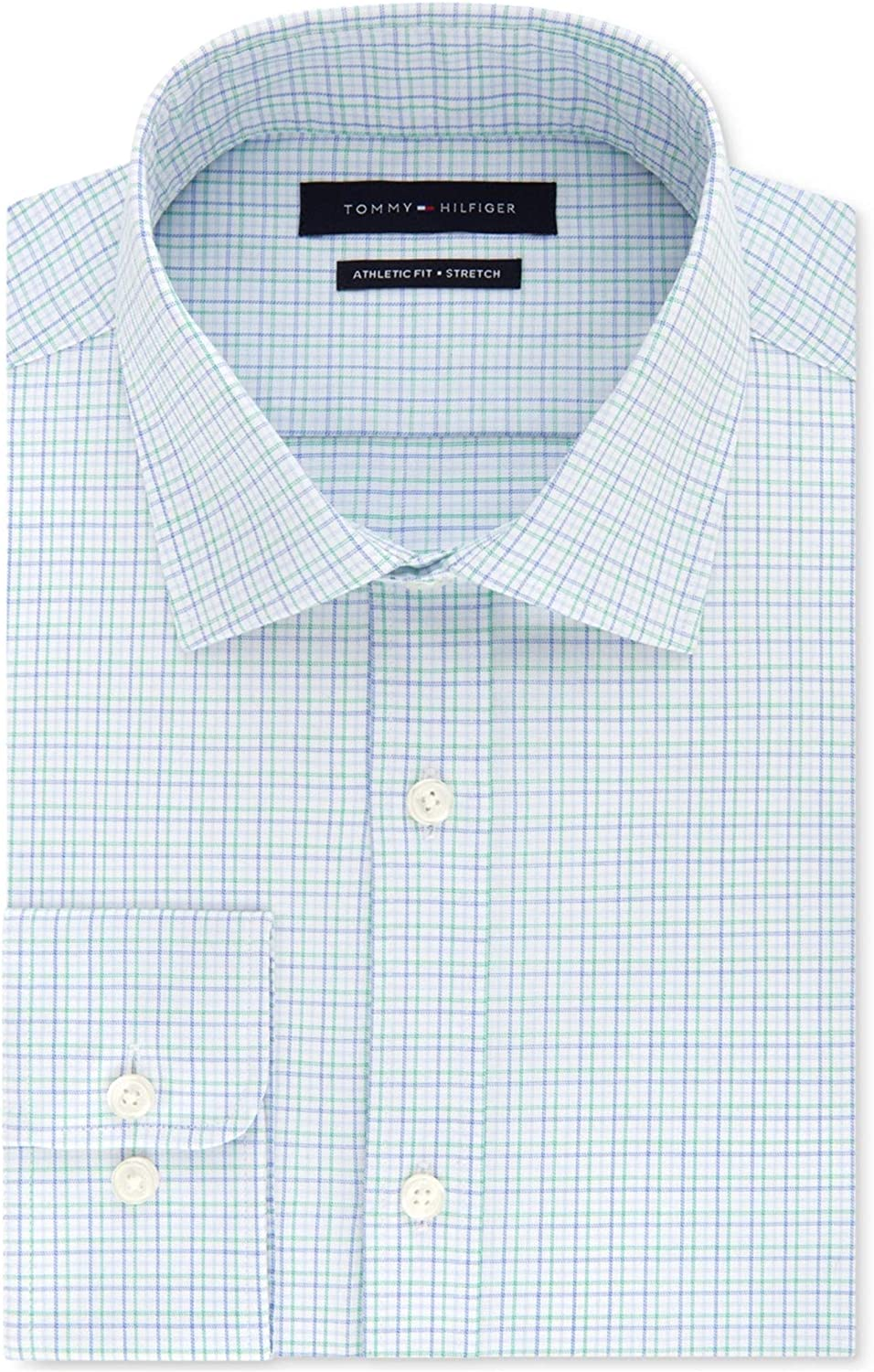 Tommy Hilfiger Mens Fitted Button Up Dress Shirt