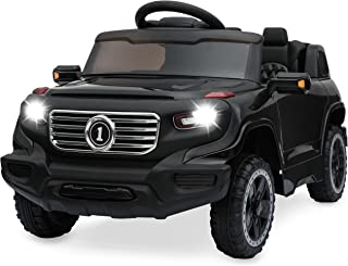 Best Choice Products Kids 6V Ride On Truck w/ Parent Remote Control, 3 Speeds, LED Lights, Black