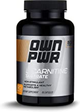 OWN PWR L-Carnitine Tartrate 500 MG, 90 Capsules, Up to 3 Month Supply