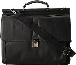 "Columbian Leather - 5.38"" Double Gusset Dowel Rod Portfolio"