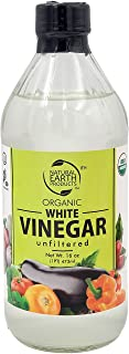 Organic White Vinegar, Unfiltered, And Unpasteurized, Perfect for Cleaning Purposes and Cooking 16 Oz (Single)