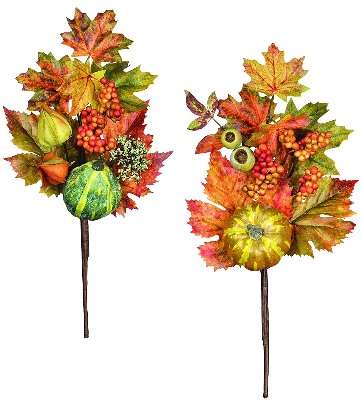 16 inch Pumpkin and Gourd Stems - Set of 2