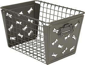Spectrum Diversified Macklin Basket, Dog Bone Design, Industrial Gray