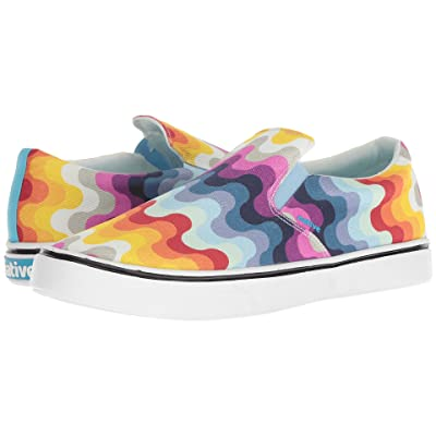 Native Shoes Miles Denim Print (White Wash/Shell White/Rainbow Wave) Shoes