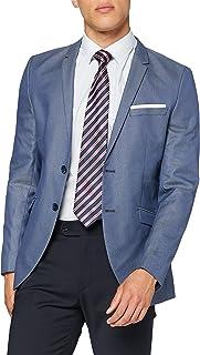 Selected Men's Shdone-Maze M. Blue Struct. Blazer STS Suit Jacket