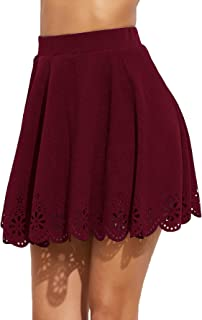 maroon floral skirt