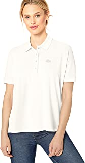 Lacoste Womens Short Sleeve Relaxed Fit Lyocell-Cotton Polo Shirt