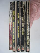 set of 5 Louis L'Amour books: Galloway, The Man Called Noon, Brionne, Tucker, and Under the Sweetwater Rim