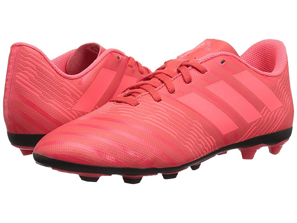 adidas Kids Nemeziz 17.4 FG (Little Kid/Big Kid) (Real Coral/Red Zest/Core Black) Kids Shoes