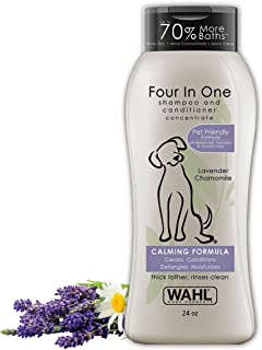 Wahl 4-In-1 Calming Pet Shampoo – Cleans, Conditions, Detangles, & Moisturizes with Lavender Chamomile