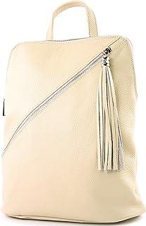 modamoda de T161- ital Damen Rucksacktasche 3in1 aus Leder