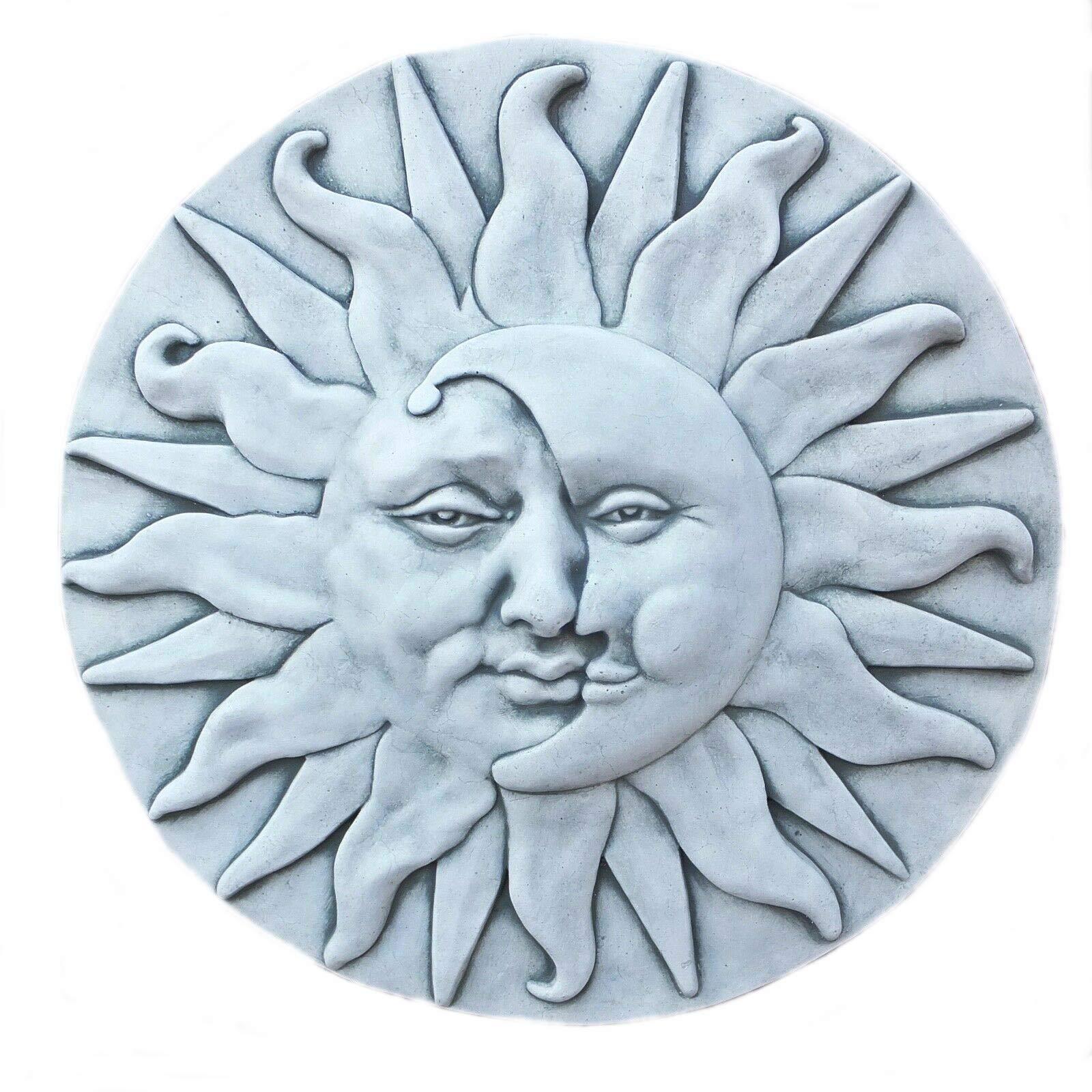 piedra Figura pared Relief sol luna resistente a heladas Jardín Decoración Piedra cara NUEVO macizo de piedra: Amazon.es: Jardín
