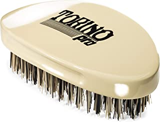 Torino Pro Wave Brush #1510 - By Brush King - Curved, Hard Palm/Military 360 Waves Brush