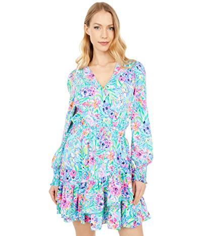 Lilly Pulitzer Cristiana Stretch Dress (Amalfi Blue Alligator Isle) Women