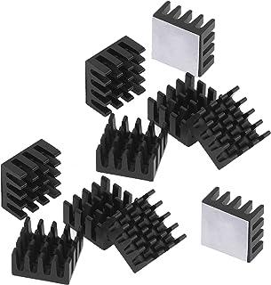 Easycarga 12pcs Aluminio disipador de Calor 14x14x7 mm + preaplicado 3M 8810 térmica conductiva Cinta Adhesiva para refrigeración refrigerador GPU Chips VGA RAM