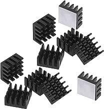 Easycargo 10pcs 14mm Heatsink 14x14x7mm + pre Applied 3M 8810 Thermal Conductive Adhesive Tape for Cooling Cooler GPU Chips VRAM VGA VRAM RAM (14mmx14mmx7mm) (Black 14mm)
