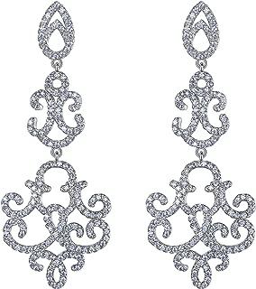 Demarkt 1 par Dama Ni/ña Aretes Plata Coraz/ón Diamante Pendientes Joyer/ía Accesorios Regalo del Amante