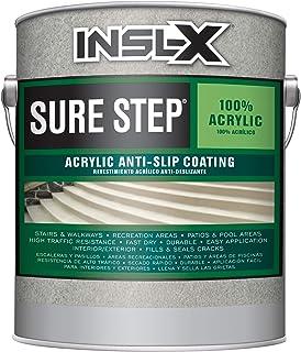 INSL-X SU099809A-01 Sure Step Acrylic Anti-Slip Coating Paint, 1 Gallon, Saddle Brown