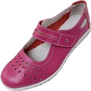 Sandales en cuir EEE pour femme - Coupe large - Été - Vacances - Décontractées