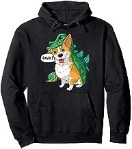 Corgi Dinosaur Dragon Costume Funny Dog Halloween Gift  Pullover Hoodie