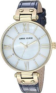 Anne Klein Women's AK/3228 Croco-grain Leather Strap Watch