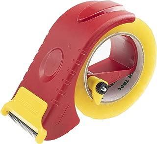 Prosun 2 Inch Packing Tape Gun Dispenser, Width-Adjustable Box Sealer, Lightweight Ergonomic Industrial Heavy Duty Tape Cutter for Carton, Packaging and Box Sealing, Red