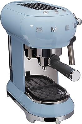 Smeg ECF01PBUS Maquina de Café Expreso, color Azul Pastel