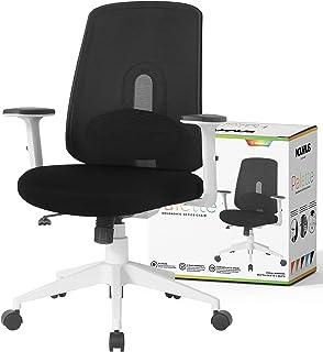 NOUHAUS Palette Ergonomic Office Chair Comfortable Swivel Computer Desk Chair, Lumbar Adjust Rolling Chair. (Black)